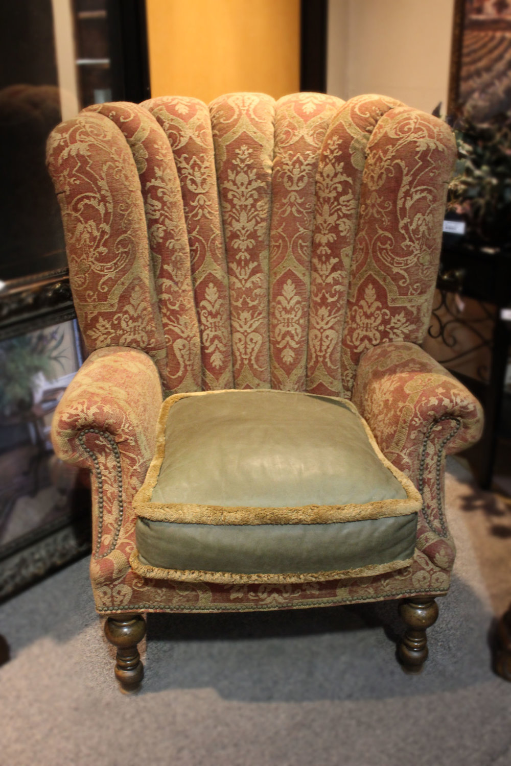 Channeled Back Wingback Chair