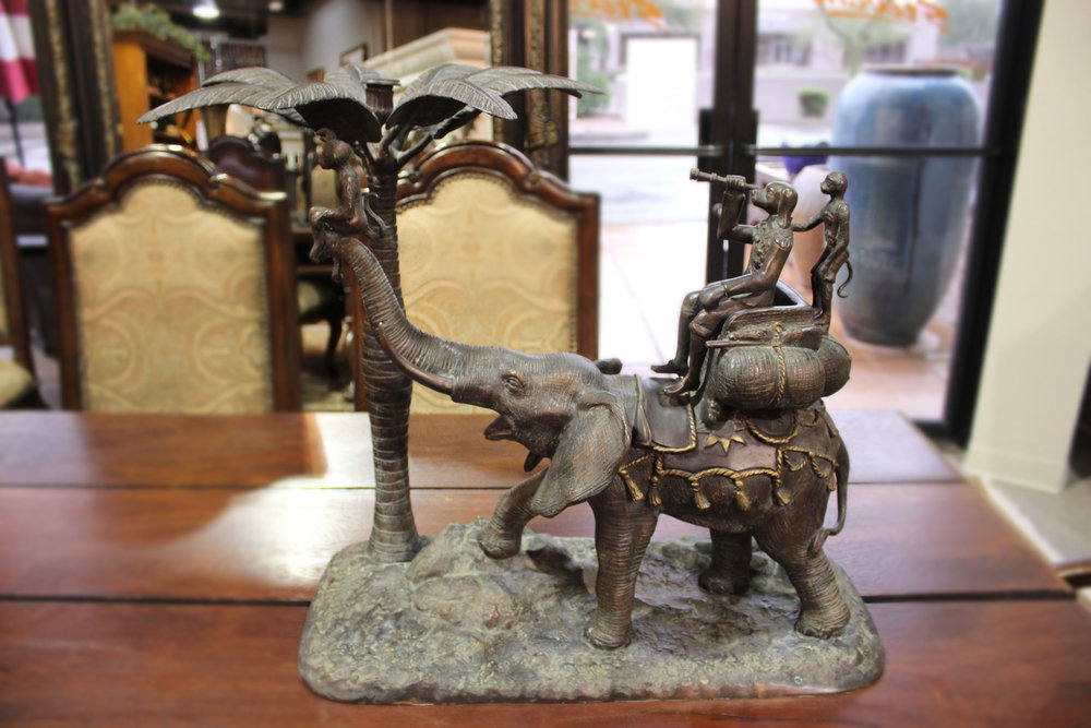 Maitland Smith Pair of Elephant With Generals