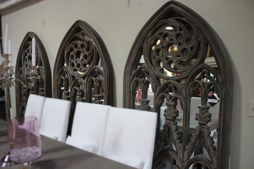 2 Gothic Arched Mirrors