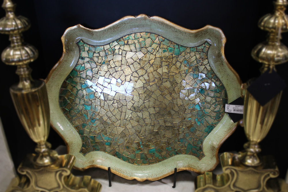 Mosaic Tray on Stand