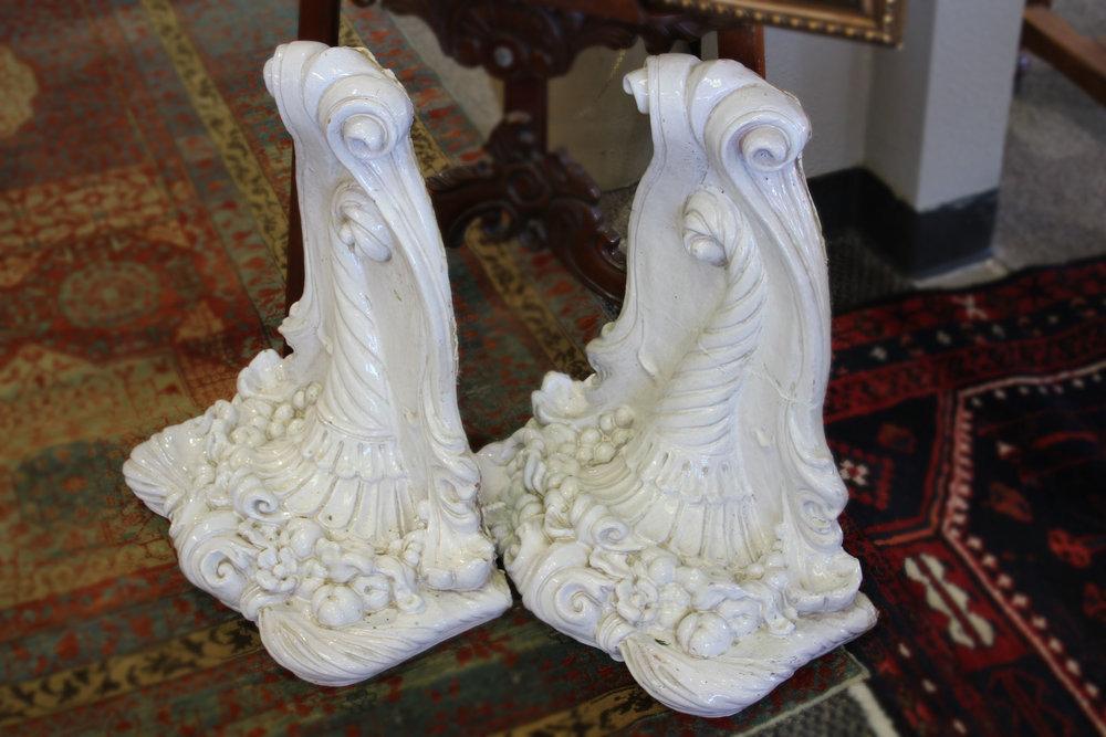 Pair of White Sconces