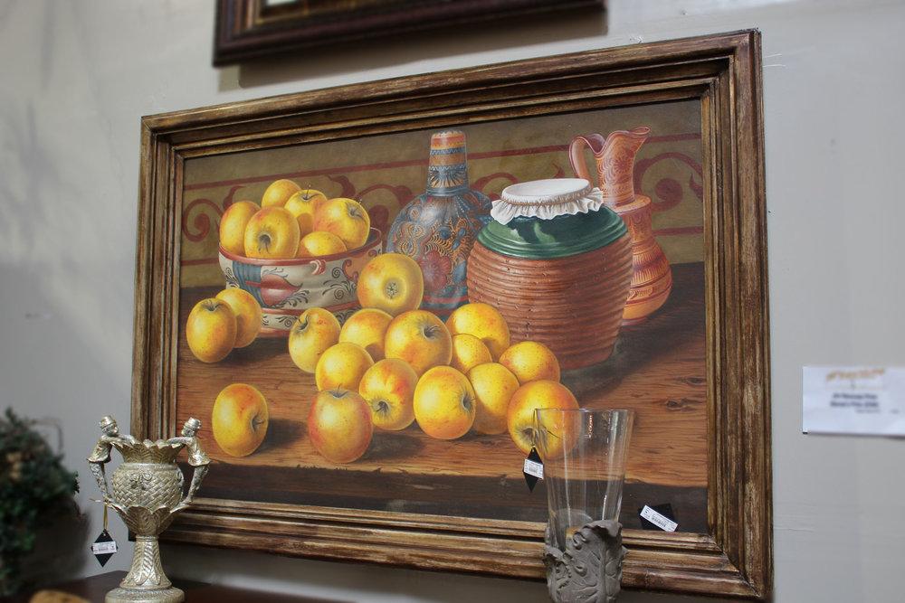 Still Life Southwest Fruit & Pottery Art
