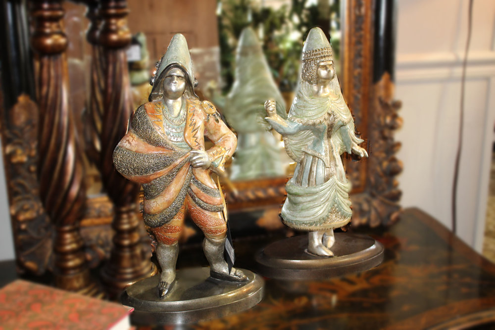 Pair of Metallic Fairy Tail Statues