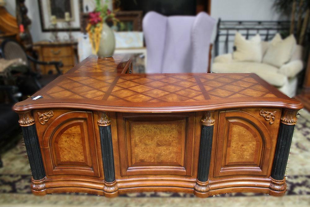 Wood & Metal L Shaped Desk