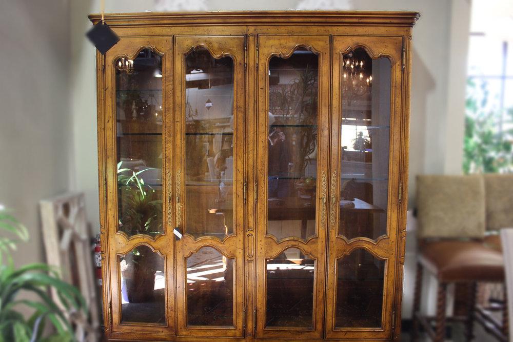 4 Door French Curio Cabinet