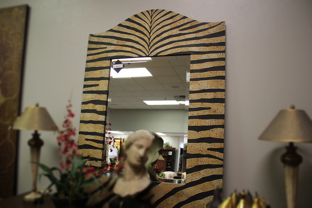 Zebra Crackle Mirror
