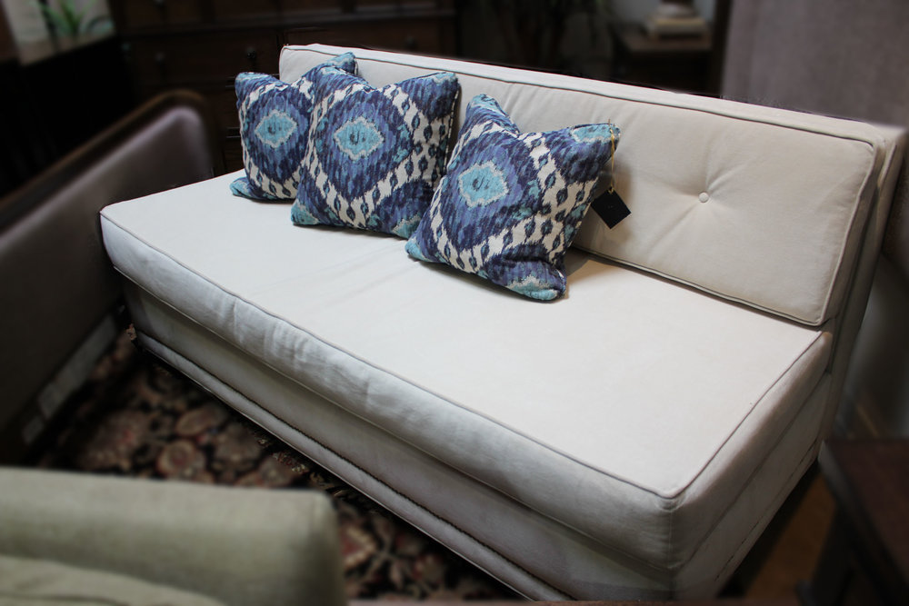 Cream Armless Sofa