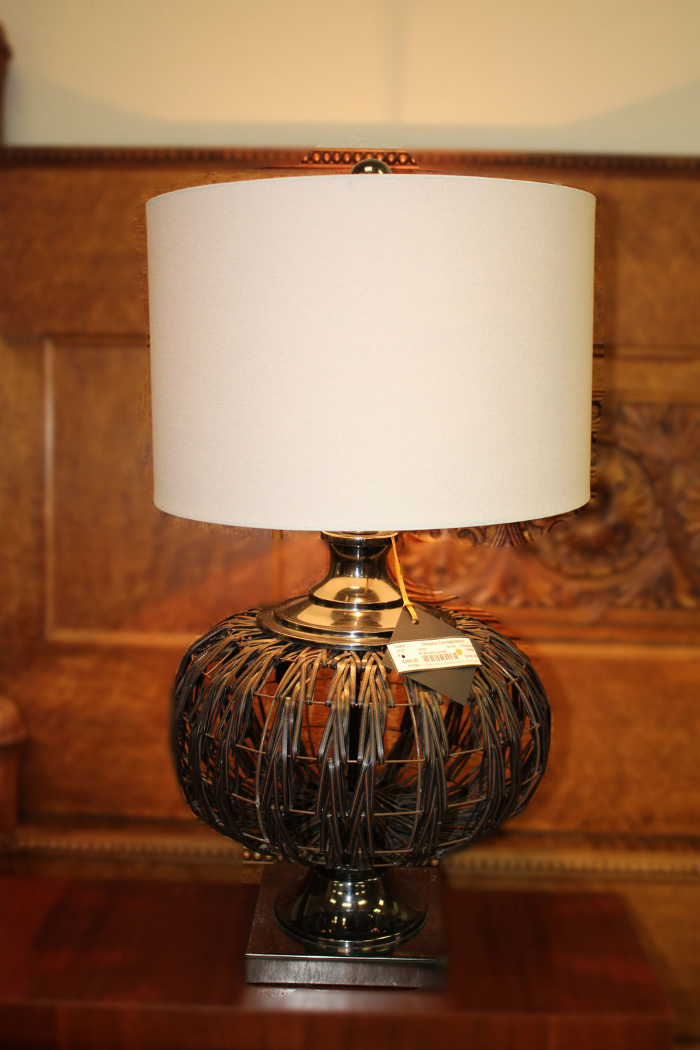 Pair of Woven Lamps