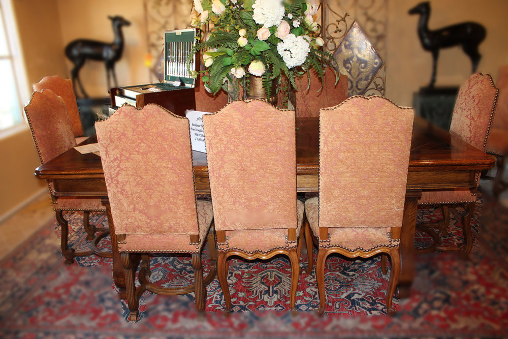 Reclaimed Oak Flooring From Versalles Dining Table & 12 Chairs