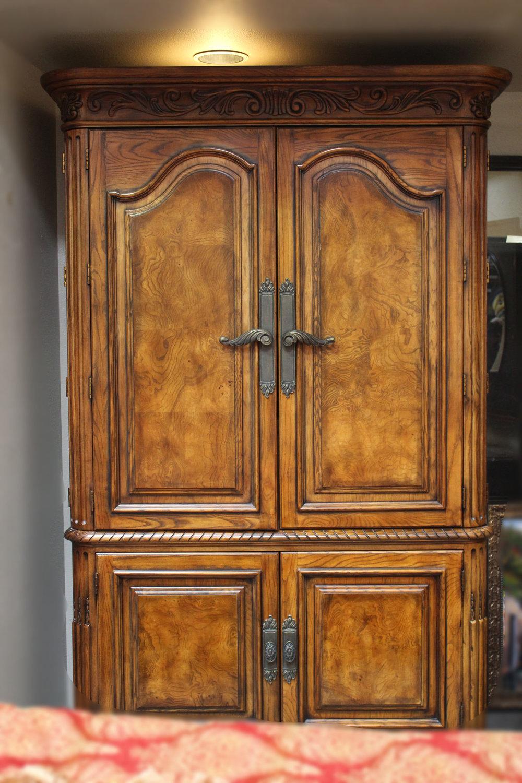 Henredon 4 Door Carved Armoire