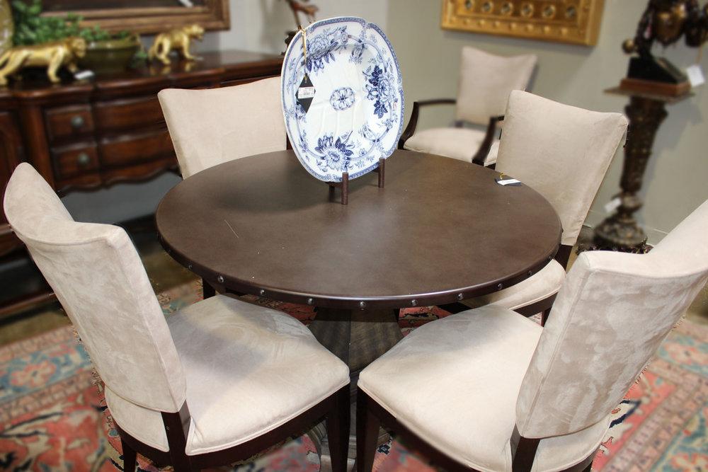 Metal Top Pedestal Table
