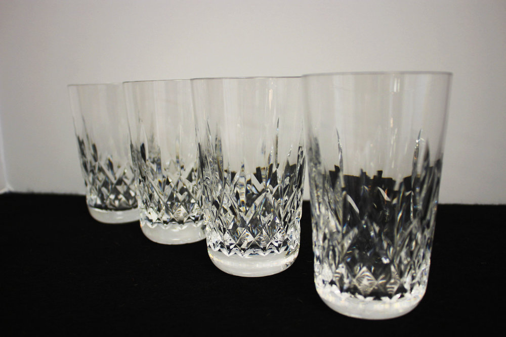 Set of 4 Waterford Tumbler Glasses