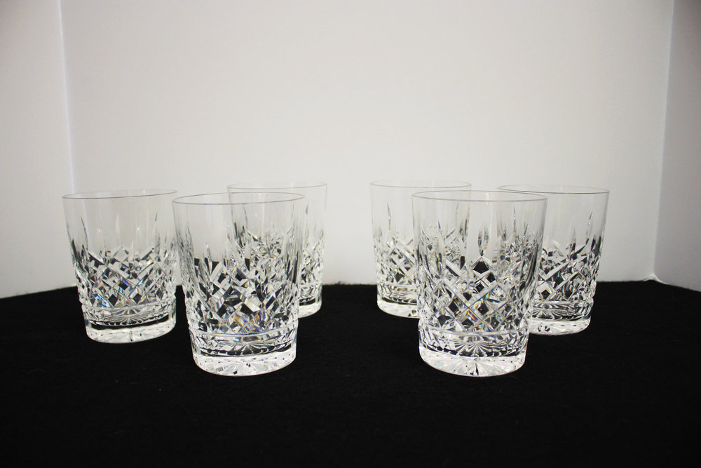 Set of 6 Waterford Old Fashion Glasses