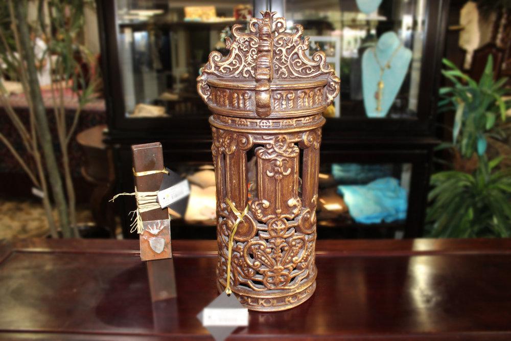 2 Piece Ornate Urn