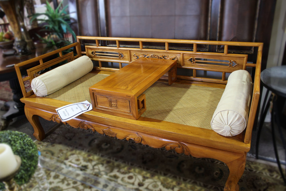Chinese Elm Opium Bed
