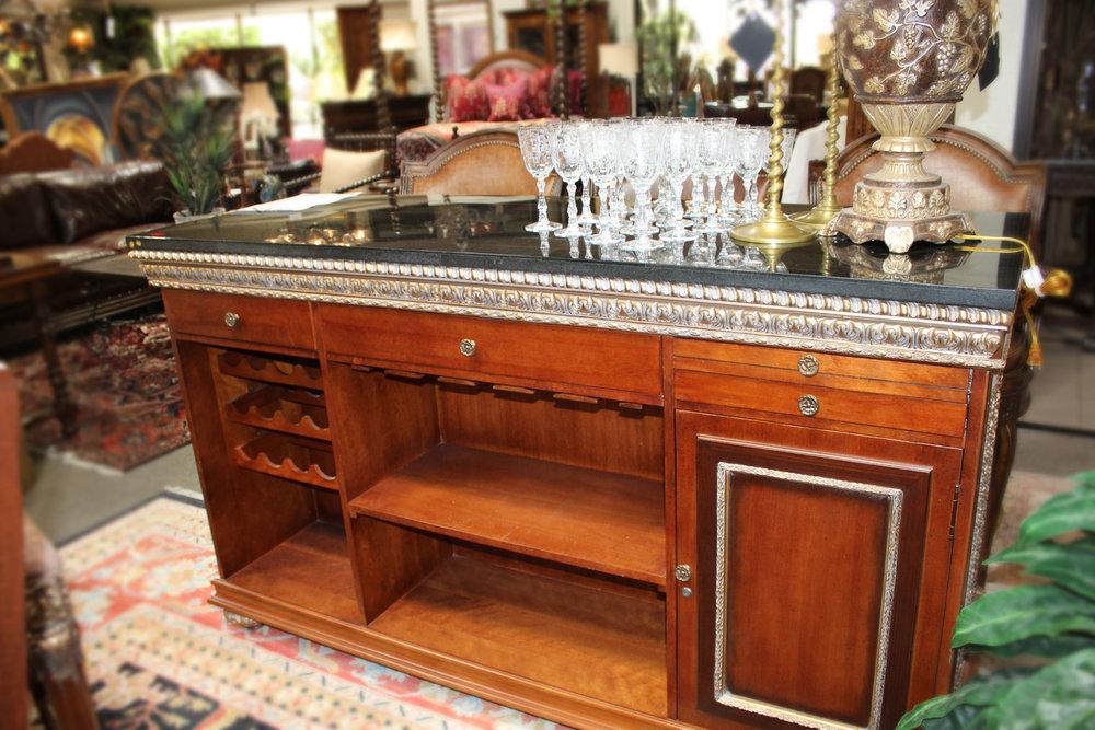Marble Top Ornate Bar