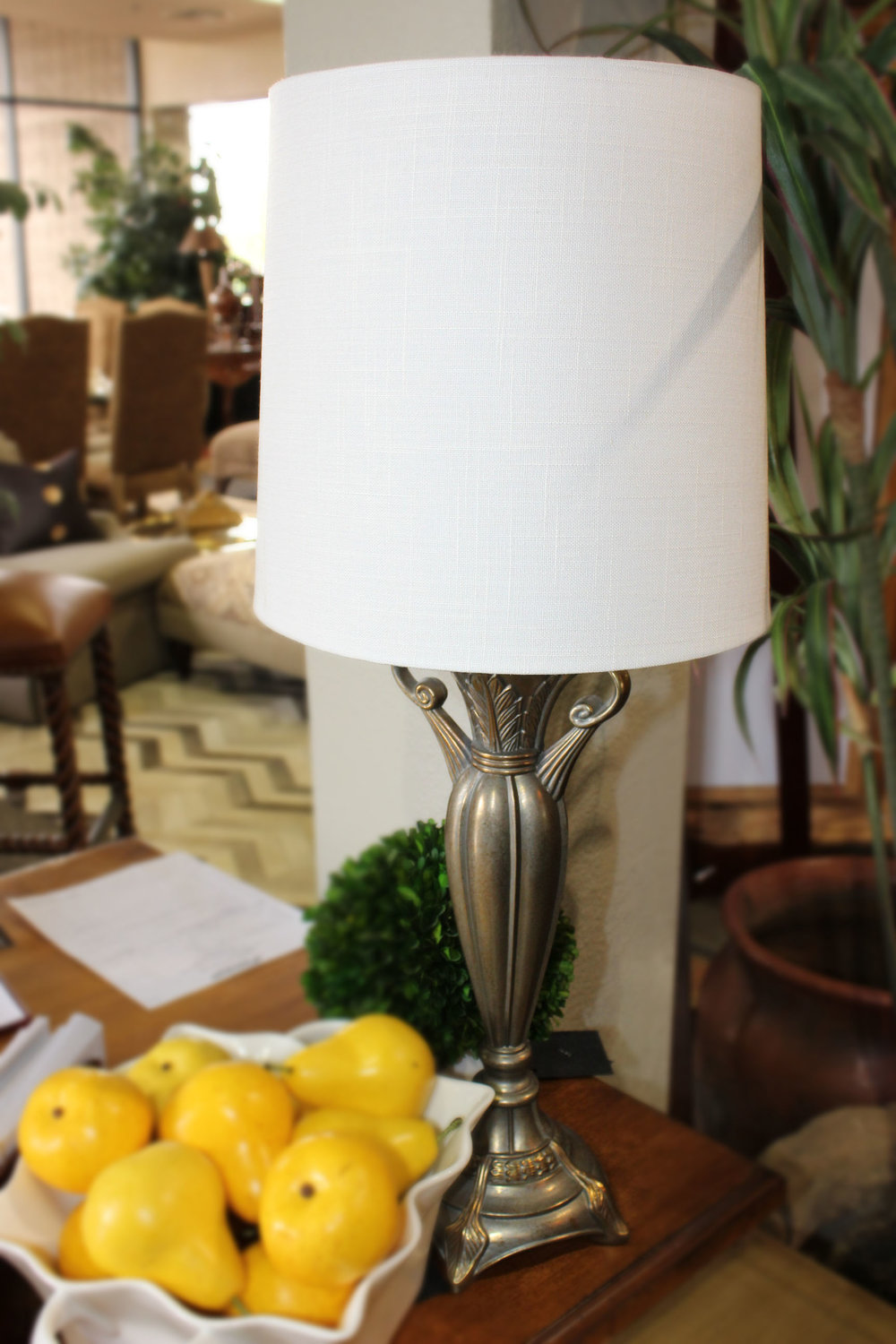 Pair of Silver Buffet Lamps