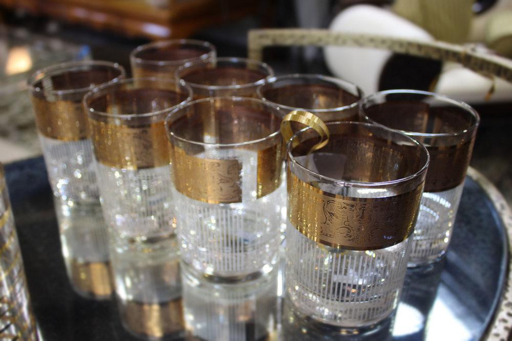 Set of 8 Capri of Cali Rock Glasses