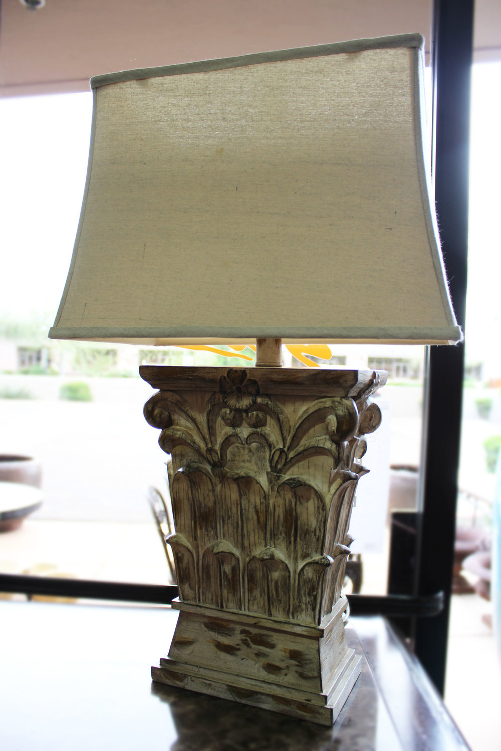 Pair of White Wash Lamps