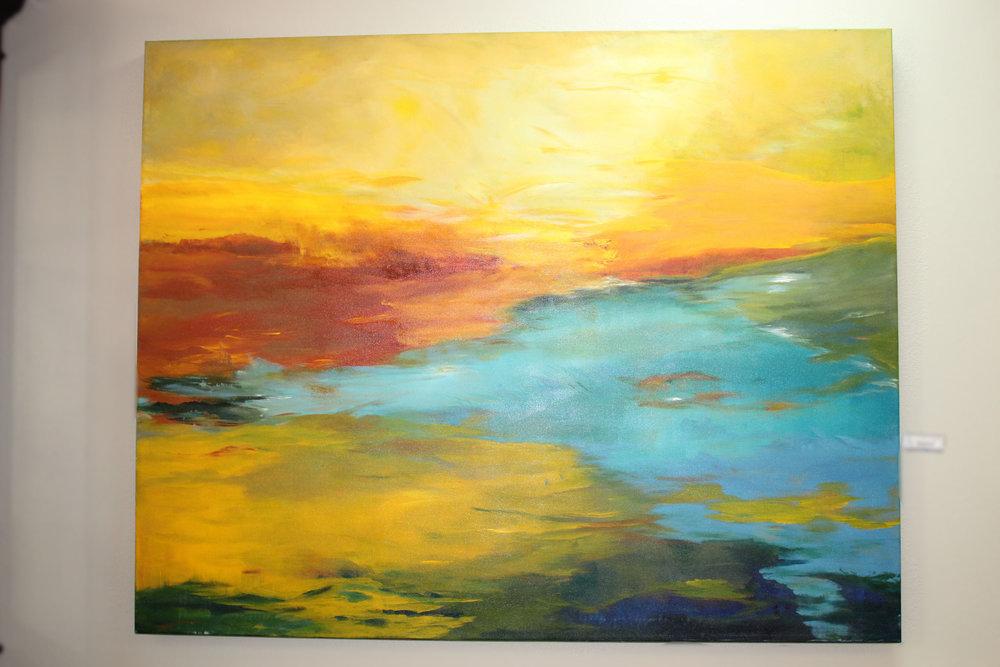 D Roberts Original Oil Abstract