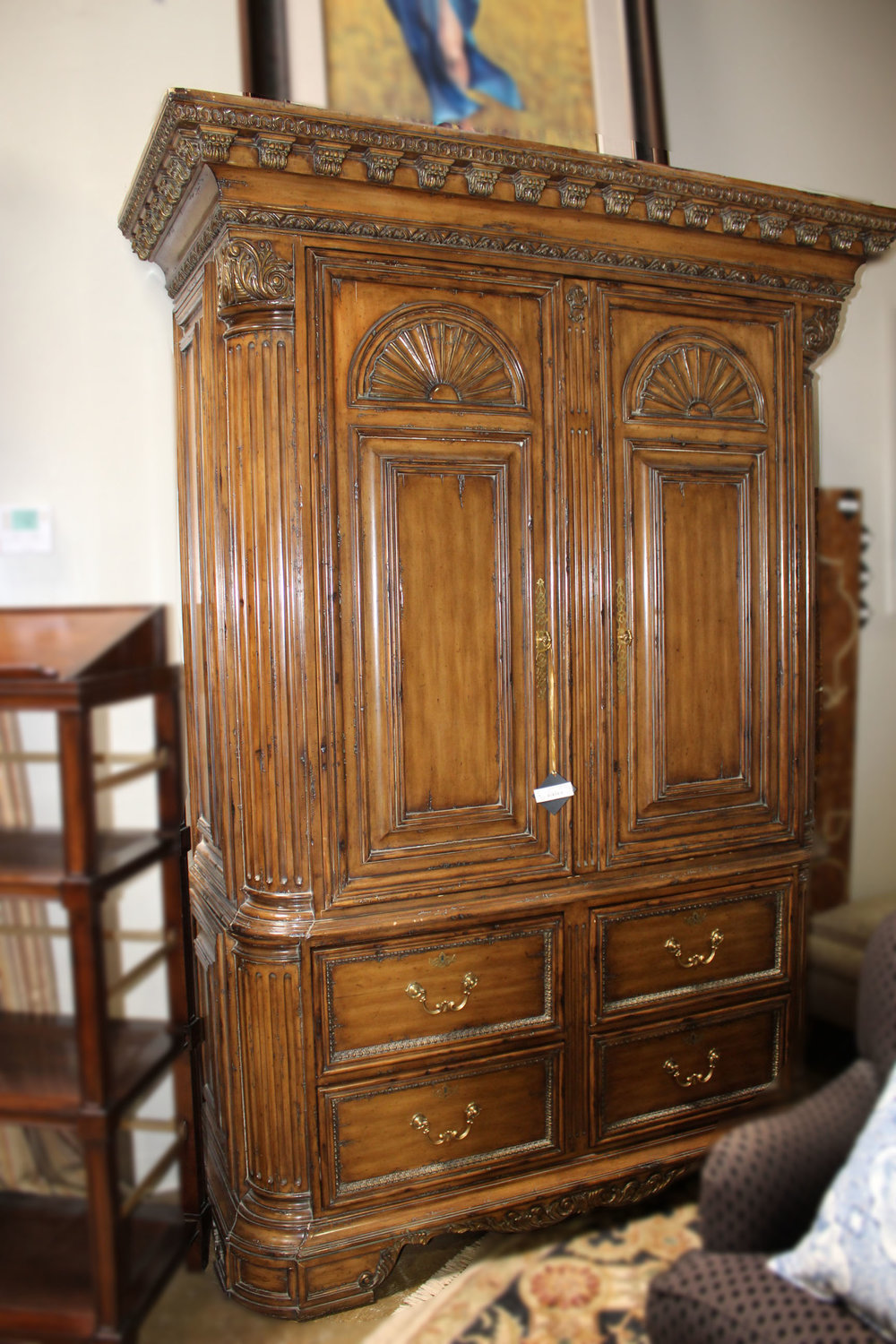 Marge Carson Ornate Armoire