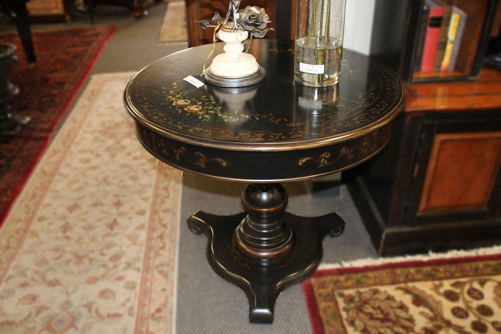 Black Painted Table