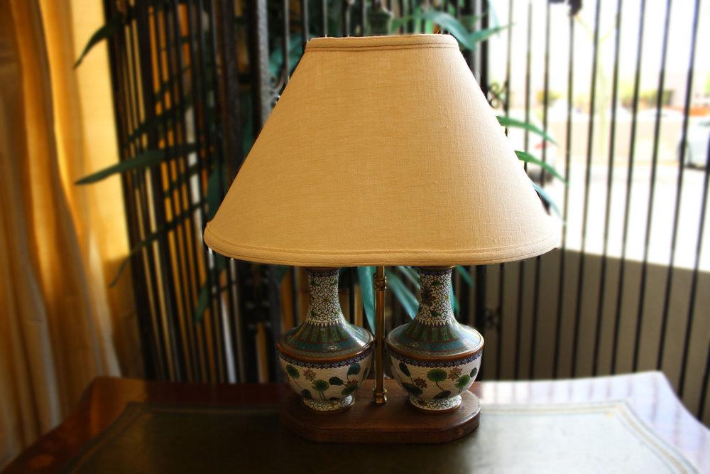 Double Cloisonne Urn Lamp