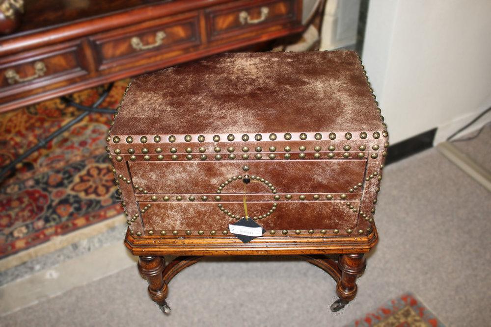 Lexington 2 Drawer Leather Nailhead Trunk