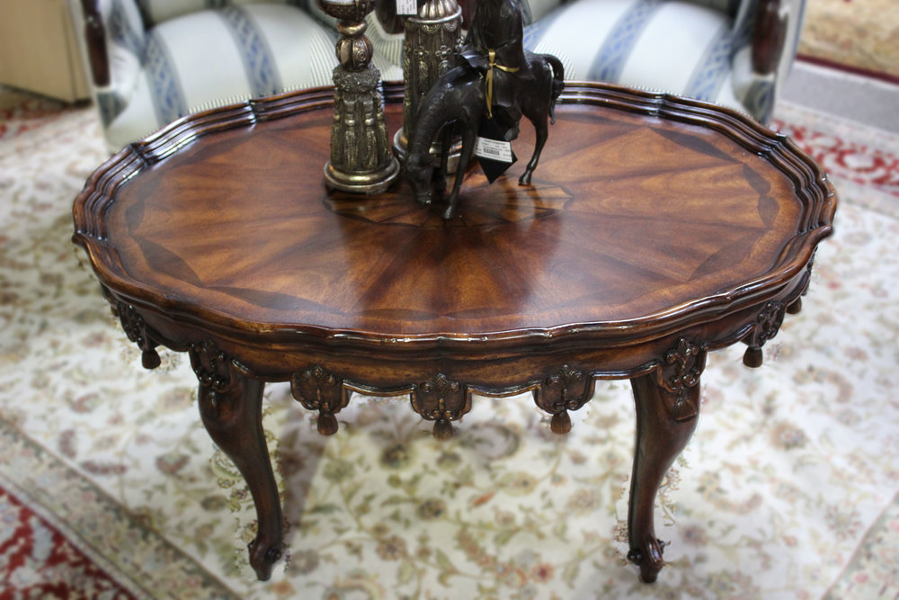 Ornate Oval Cocktail Table