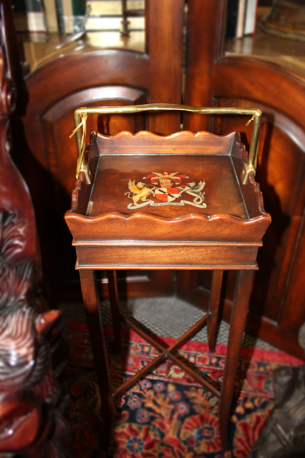 Theodore Alexander Signed Butlers Tray Table