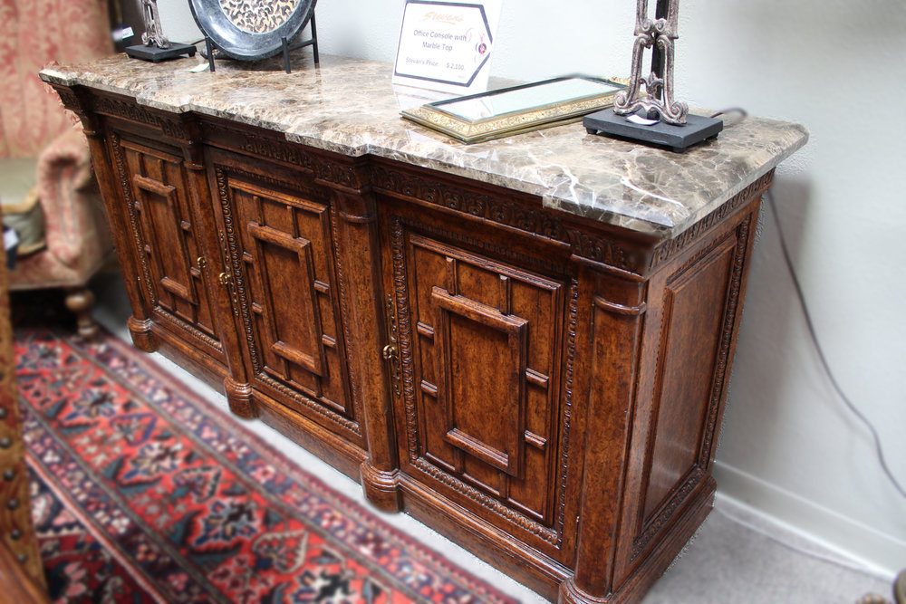 Office Console with Marble Top