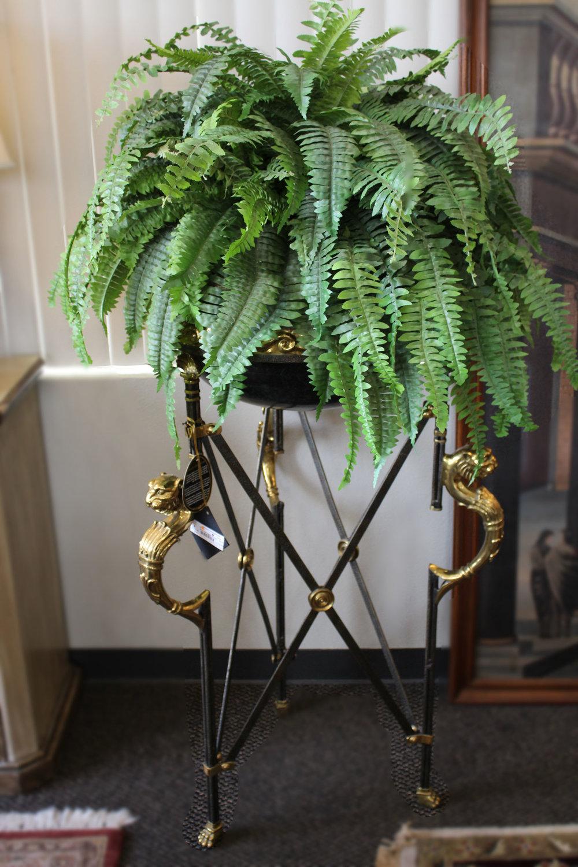 Maitland Smith Brass Iron Planter with Fern