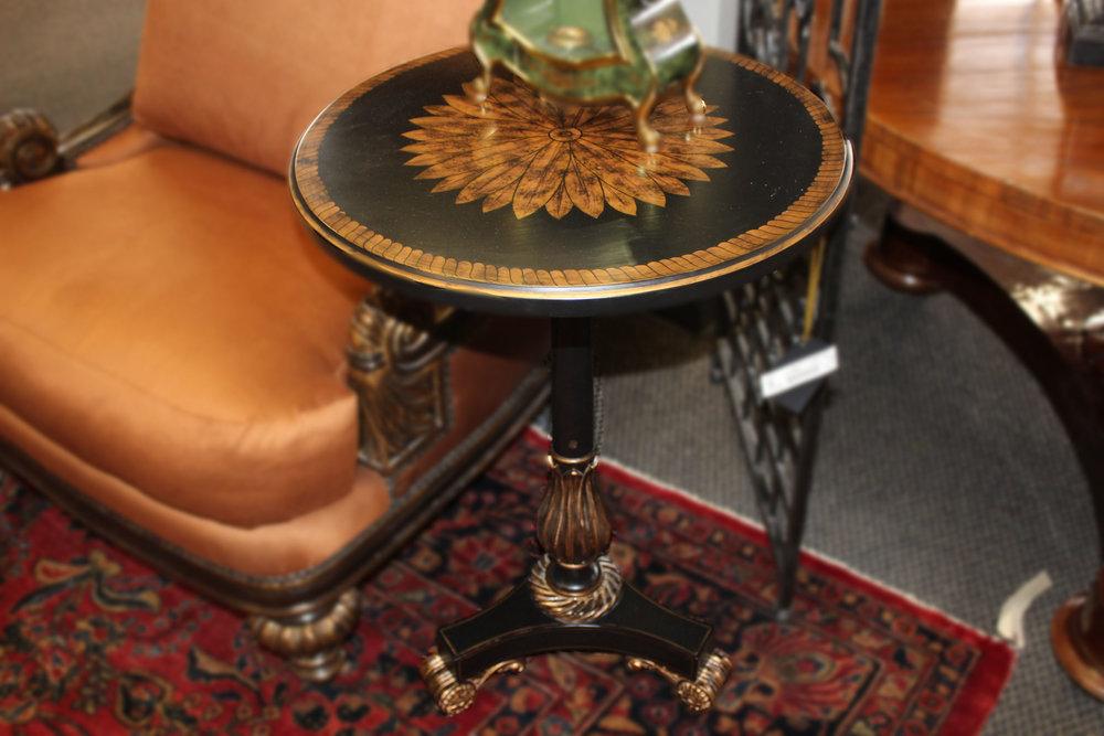 Maitland Smith Small Black End Table