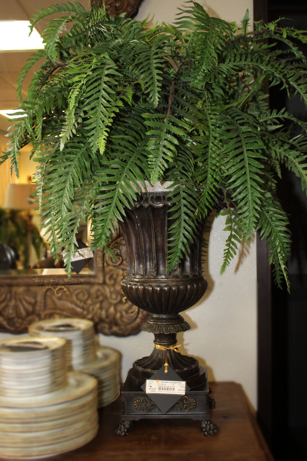 Theodore Alexander Clawed Foot Bronze Urn