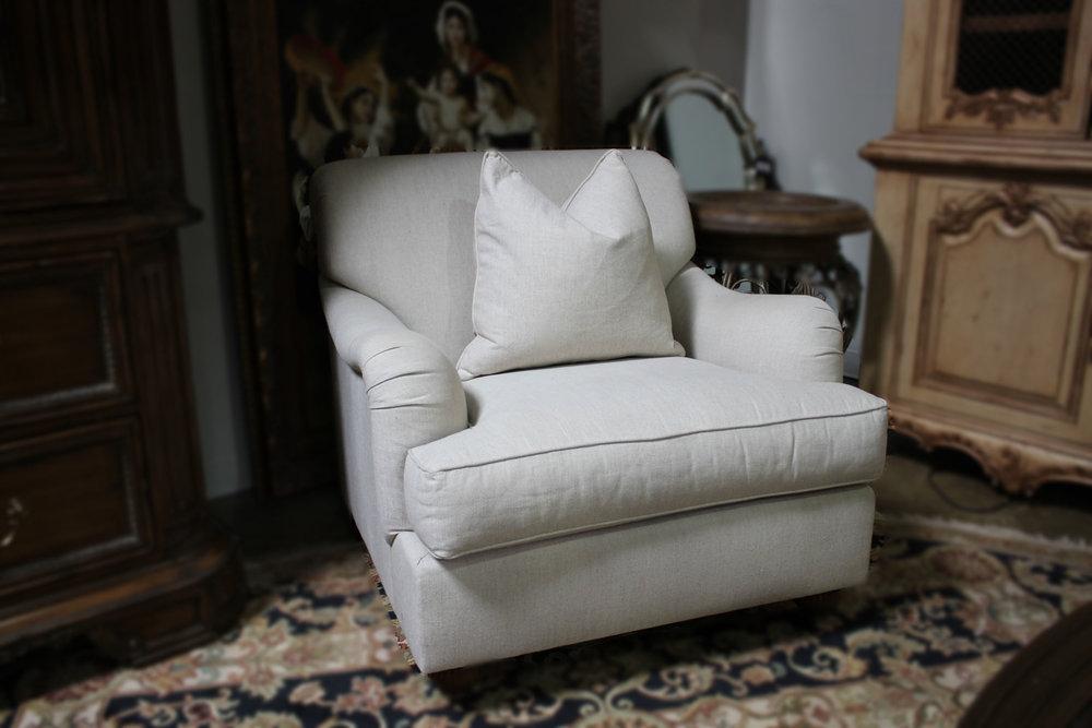 Henredon Oatmeal Linen Arm Chair