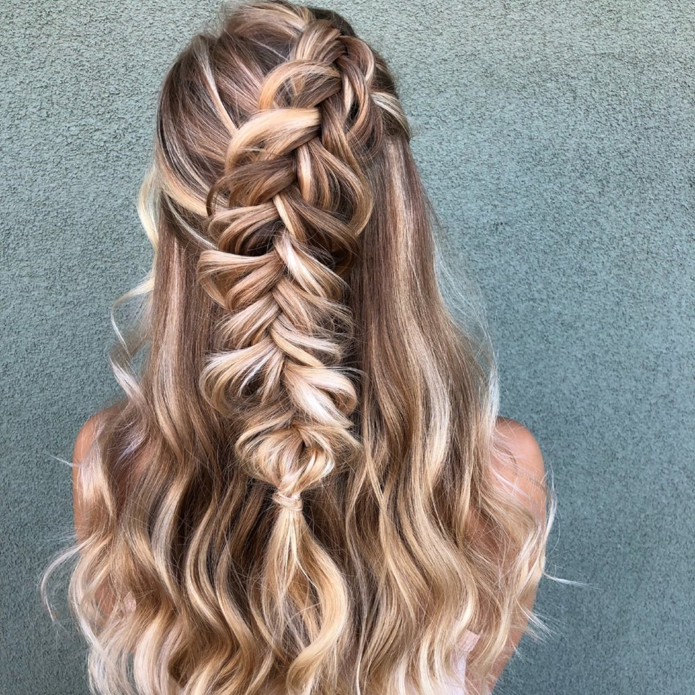 Half-Up Braid by Michelle Stevensen