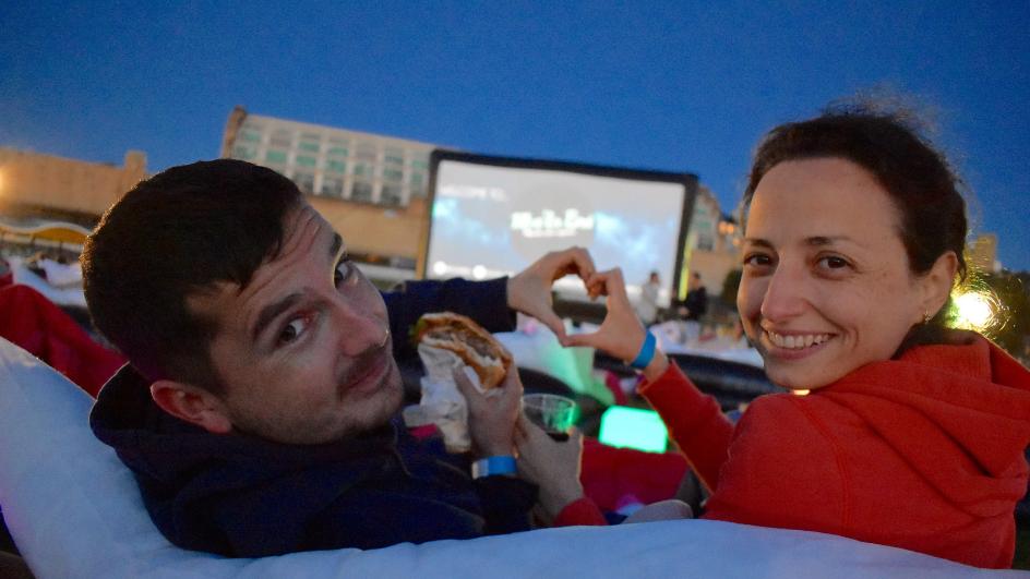 outdoor cinema date idea sydney