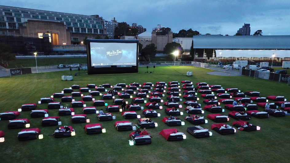 outdoor cinema date night idea sydney