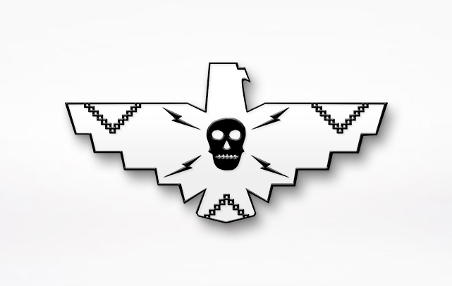 White Thunderbird Enamel Pin
