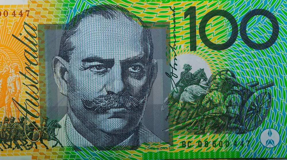 The General on the face of Australia's highest currency dollar bill