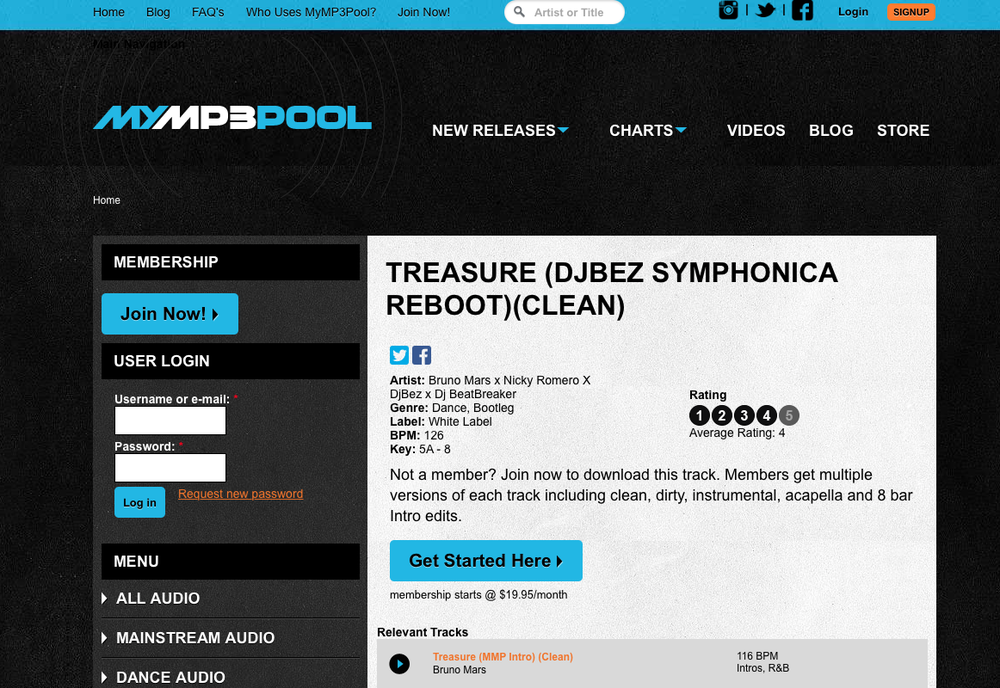 Feature: - MyMP3Pool supports Brandon Fox's remix. Take a listen!