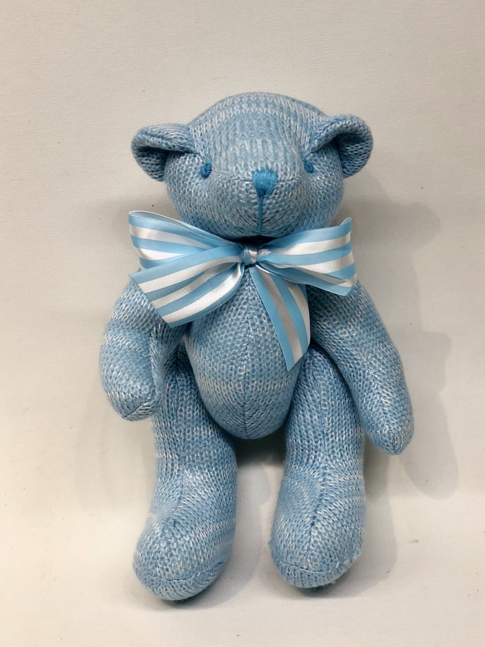 Blue Knitted Teddy Bear -