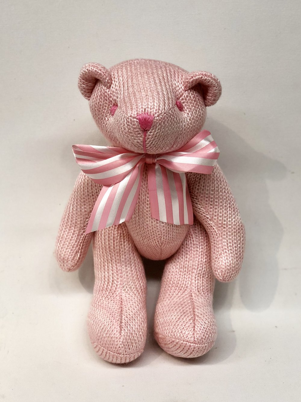 Pink Knitted Teddy Bear -