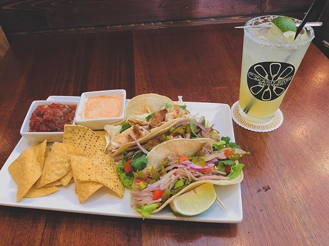 Join us tomorrow for Margaritas and tacos with your choice of fish, brisket or pork!! 🌮 $15 for a margarita and taco combo or $9 for just tacos!