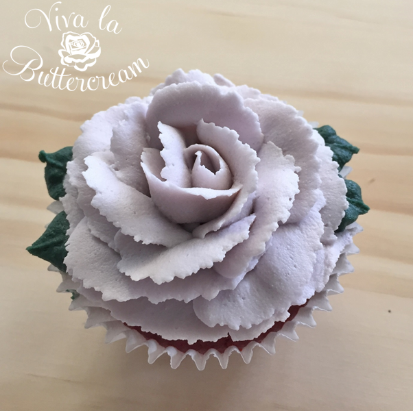 Lavender Rose Cupcake