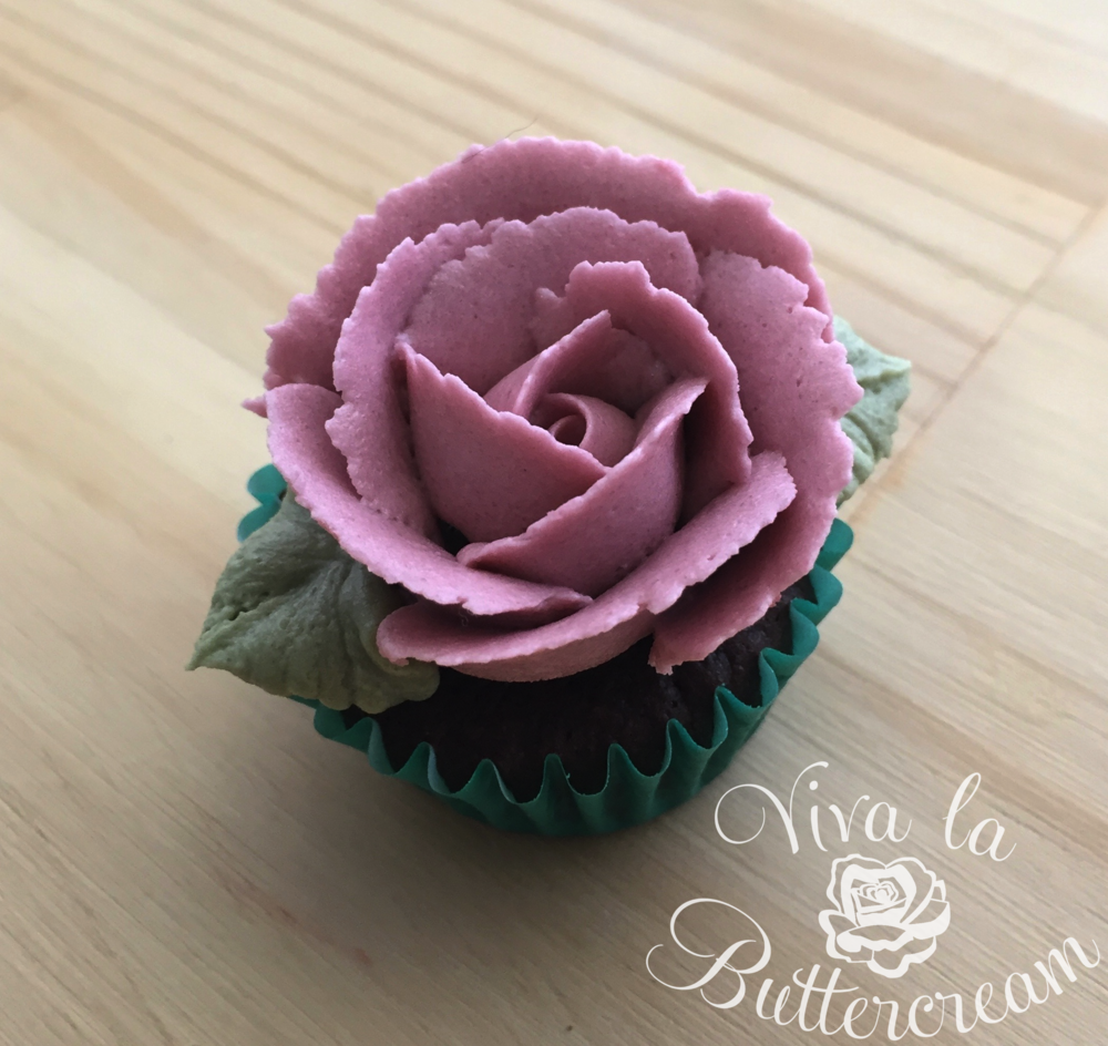 Mini Buttercream Rose Cupcake