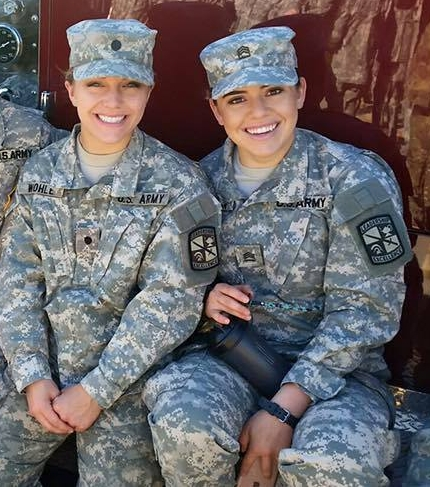 My battle buddy, Adriana and I when we were cadets in the Reserve Officer Training Program.