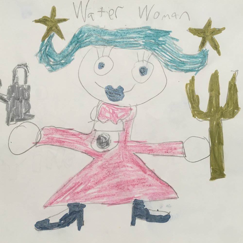 Water Woman Inspired to help Hot Head
