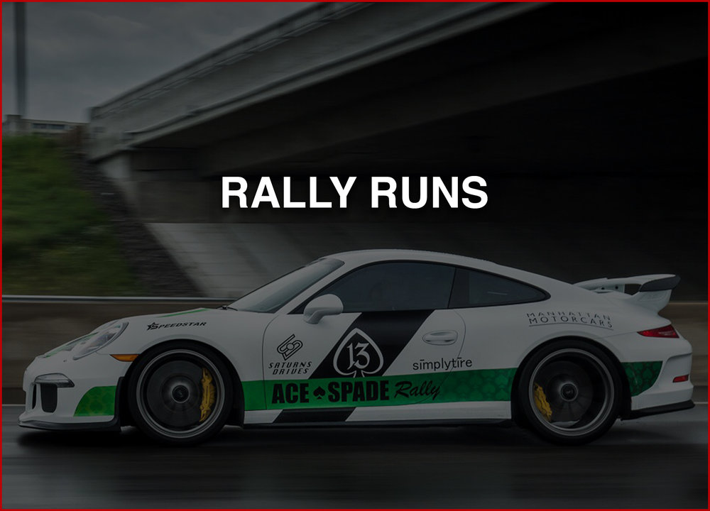 RALLY RUNS   Want to be the diamond that shines on your next rally run?  We got you covered; spot graphics, partial graphics or a full wrap we got you covered.
