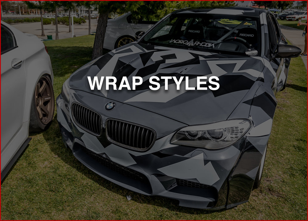 WRAP STYLES   We have the ability to design all styles of camos, patterns, colors or any other artistic mediums.